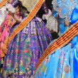 Falleras costume fallas dress detail from Valencia - Stock Photo