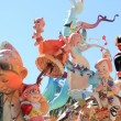 Fallas Valencipapier mache popular fest figures — Stock Photo #5561640