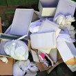 Cardboard and paper garbage trash container - Stock Photo