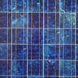Blue solar panel electric plate texture macro pattern — Stock Photo