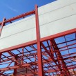 Industrial building construction steel structure concrete — Stock Photo
