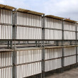 Plasterboard industrial production drying outdoor - Stock Photo