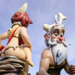Постер, плакат: Fallas Valencia figures rear nude woman fun cartoons