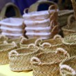 Basketry basketwork Spain enea esparto basket — Stock Photo