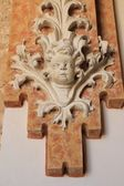 Baroque figure detail decorative wall ancient — Stock Photo