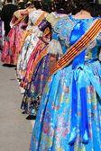 Falleras костюм фальяс платье деталь из валенсии — Стоковое фото