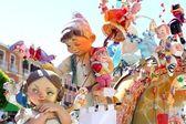 Fallas Valencia papier mache popular fest figures — Stock Photo