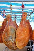 Tuzlanmış domuz jambon astı i̇spanya'dan kurutulmuş — Stok fotoğraf
