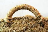 Esparto grass handcraft basket handle texture — Stock Photo