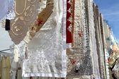 Fabric embroidery mediterranean — Stock Photo