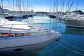 Boat mediterranean marina in Denia Alicante Spain — Stock Photo