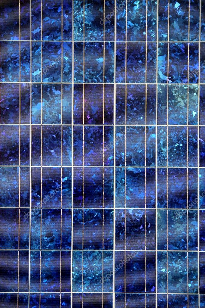 Blau-Solar-Panel elektrische Platte Textur Makro Muster — Stockfoto ...
