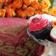 Royalty-Free Stock Photo: Cupcakes colorful muffin pink orange cream vintage