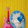 Mariachi embroidery mexican hat pink guitar — Stock Photo #5600134