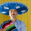 Mexican mustache man sombrero portrait shirt — Stock Photo