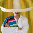 Mexican mustache man sombrero portrait shirt — Stock Photo #5600232