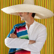 Mexican mustache man sombrero portrait shirt — Stock Photo #5600250
