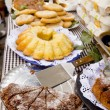 Cakes pastry sweets Mediterranean bakery Balearic — Stock Photo
