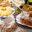 Cakes pastry sweets Mediterranean bakery Balearic — Stock Photo #5710479