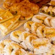 Mediterranean bakery wseet pastries — Stock Photo