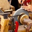 Grinder traditional wheel hand tools sharpening knife - Foto Stock