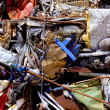 Iron scrap metal compacted to recycle — Stock Photo #5712040