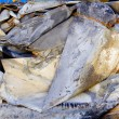 Iron scrap metal compacted to recycle - Stock Photo