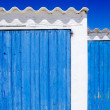 Architecture balearic islands white blue doors detail — Stock Photo