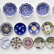 Ceramic plates crafts Mediterranean Ibiza - Stock Photo