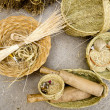 Stock Photo: Esparto basketry handcrafts MediterraneBalearic