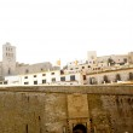 Castle of Ibiza entrance door dalt Vila Balearic Islands — Stock Photo