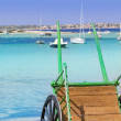 Estany des peix in Formentera lake Mediterranean - Stock Photo
