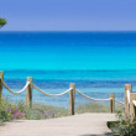 Illetas illetes beachn turquoise Formentera island — Stock Photo