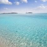 Formentera beach illetas white sand turquoise water — Stock Photo