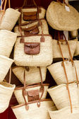 Basketry basket shop Ibiza Balearic Island — Stock Photo