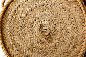 Esparto round handcraft basketry circle Spain — Stock Photo