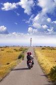 Barbaria cape formentera lighthouse road — Stock Photo