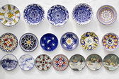 Ceramic plates crafts Mediterranean Ibiza — Stock Photo