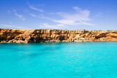 Formentera balearic island from sea west coast — Stock Photo