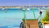 Estany des peix in Formentera lake Mediterranean — Stock Photo