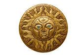 Golden sun handcraft from Mediterranean isolated — Stock Photo