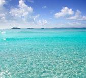 Illetes Illetas beach Formentera turquoise Mediterranean — Stock Photo