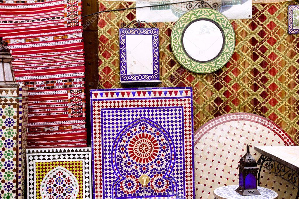 Arabische mosaik deko und stoff dekoration stockfoto for Dekoration mosaik
