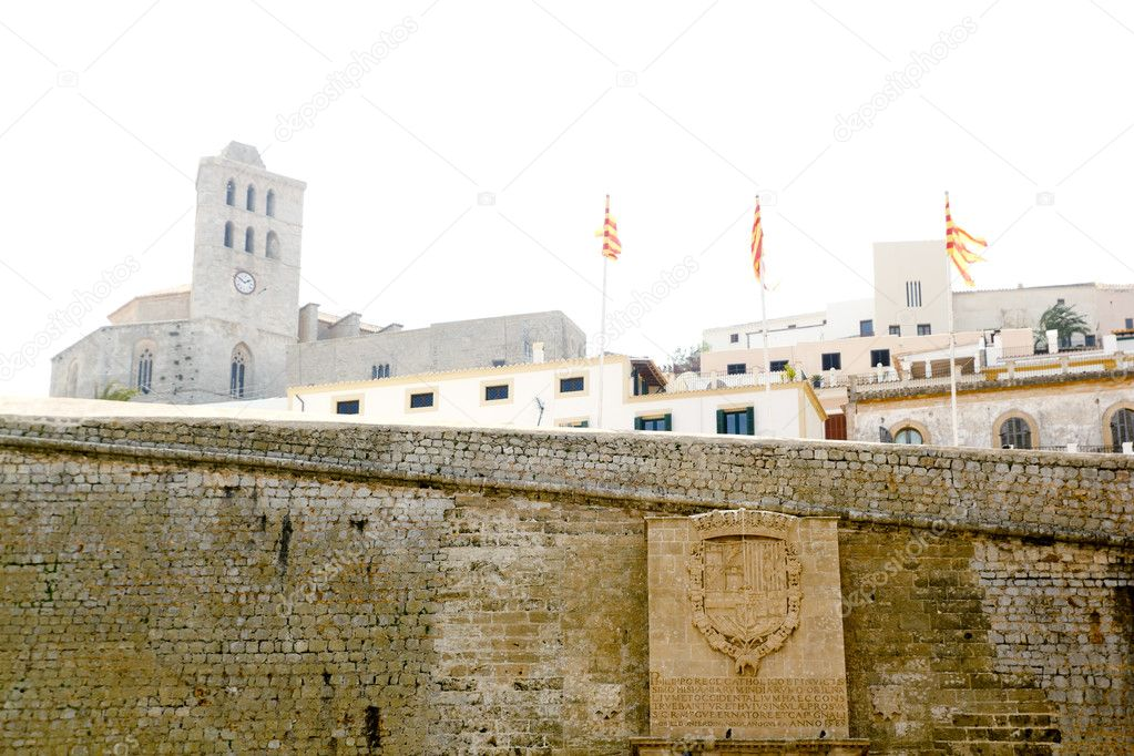Castle of Ibiza entrance door dalt Vila Balearic Islands Spain — Stock Photo #5712605