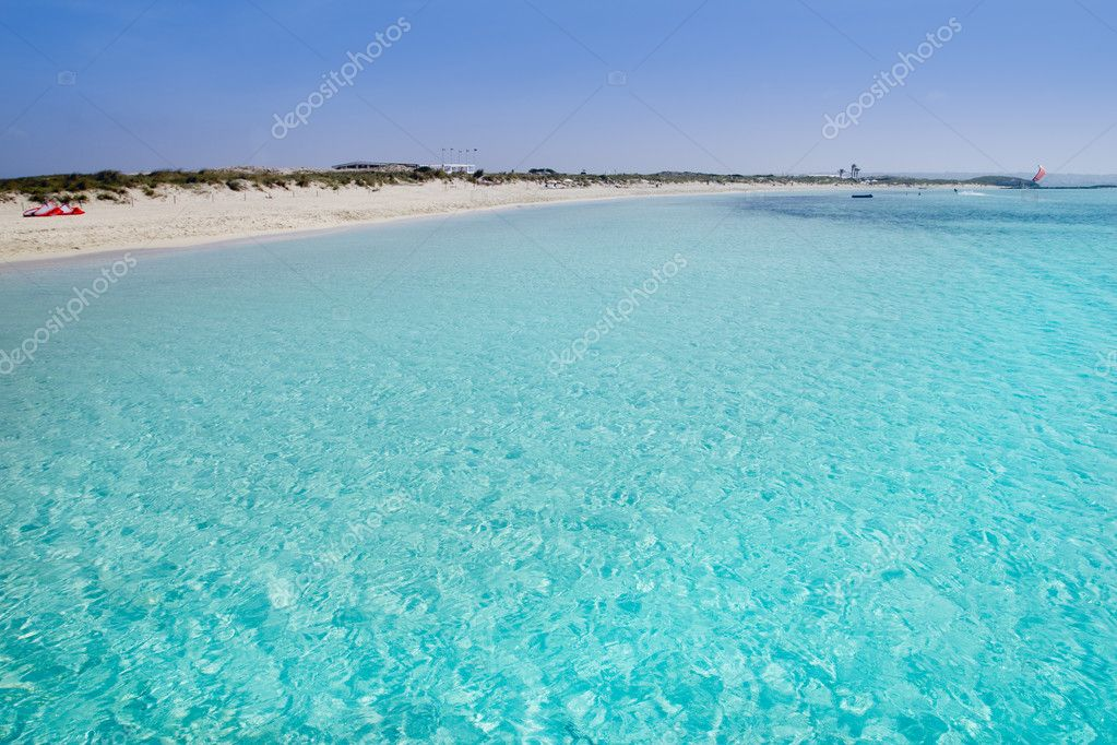 Illetas formentera illetes beach turquoise paradise tropical mediterranean Balearic islands — Stock Photo #5713991