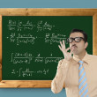 Mathematical formula genius nerd geek easy resolve — Stock Photo