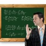 Mathematical formula genius tacky geek easy resolve — Stock Photo