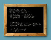Board black blackboard difficult formula math — Stock Photo
