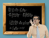 Mathematical formula genius nerd geek easy resolve — Stock Photo