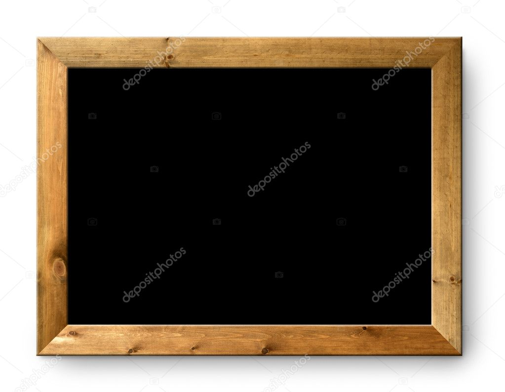 Black blank blackboard black board copy space copyspace  Stock Photo #5808102